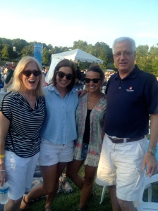 The family at summer pops concert.