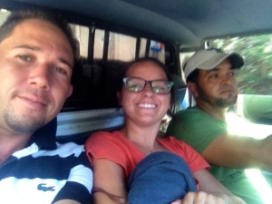 Luis, Hector and I on our 4-hour journey.
